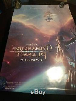 Disney's TREASURE PLANET signed by cast 9 AUTOGRAPHS DS Movie Poster 27x40