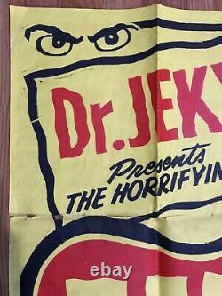 Dr. Jekyl Weird Show original vintage Spook Show monster horror poster 1950s