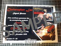 Dracula signed autograph original cinema quad poster Christopher Lee
