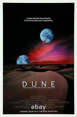 Dune (1984) Movie Poster Advance Version A, Original, SS, Unused, NM, Rolled