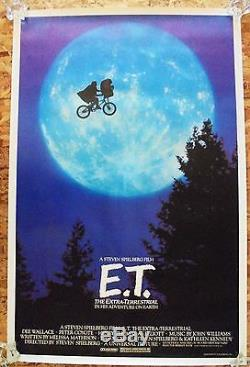 E. T. The Extra-terrestrial (1982) Original One-sheet Rolled Rare Moon Style