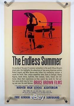 ENDLESS SUMMER Original 11x17 Movie Poster One Sheet Art Bruce Brown SURFING