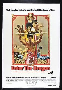 ENTER THE DRAGON CineMasterpieces 1973 MOVIE POSTER BRUCE LEE MARTIAL ARTS