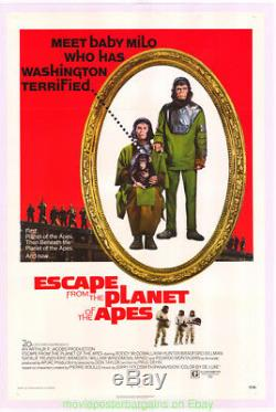 ESCAPE FROM THE PLANET OF THE APES MOVIE POSTER 27x41 Original 1971 On Linen