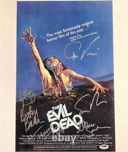 EVIL DEAD cast signed 11x17 Movie Poster Photo PSA COA LOA Tilly RAIMI Spiegel