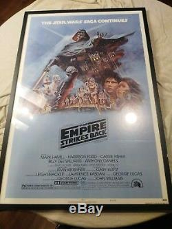 Empire Strikes Back 1980 Original Movie Poster Star Wars