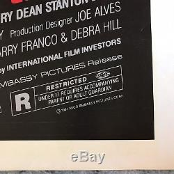 Escape From New York 1981 Original 1 Sheet Movie Poster 27 x 41 (F/VF) Russell