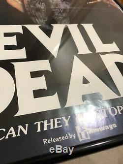 Evil Dead 1981 Original Australian Daybill Sam Raimi Bruce Campbell Poster