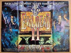 Evil Dead 2 Original British Quad Cinema Movie Poster Graham Humphreys Art