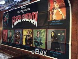 FLASH GORDON italian giant 55x120 poster Max Von sydow Ornella Muti sci-fi