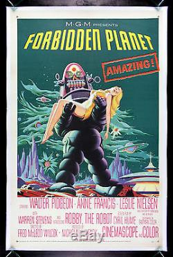 FORBIDDEN PLANET CineMasterpieces VINTAGE SCI FI ORIGINAL MOVIE POSTER 1956