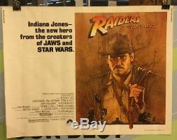 FORD, HARRISON Raiders Of the Lost Ark Original Half Sheet Movie Poster 1981