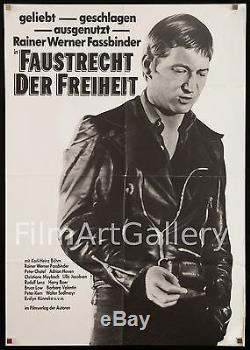 FOX & HIS FRIENDS 1975 German 23x33 B Rainer Werner Fassbinder filmartgallery