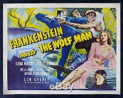 FRANKENSTEIN MEETS THE WOLF MAN CineMasterpieces ORIGINAL HORROR MOVIE POSTER
