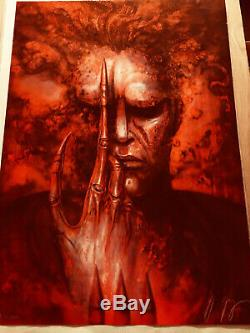 FUTURE-KILL H. R. GIGER SIGNED AND NUMBERED limited Ed RED LITHOGRAPH