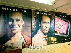 Fight Club Vintage Movie Theater Promo Banner 4X10 feet Brad Pitt Edward Norton