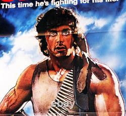 First Blood!'82 S. Stallone, Drew Struzen Classic Original U. S. Os Film Poster