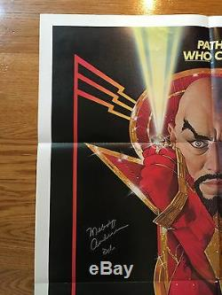 Flash Gordon Signed Autograph Original One Sheet Movie Poster JSA COA Sam Jones