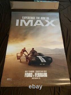 Ford Vs Ferrari Authentic Original Movie Poster 4ftx6ft Bus shelter NEW