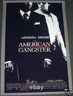Frank Lucas & Richie Roberts Signed American Gangster 27x41 Movie Poster PSA/DNA