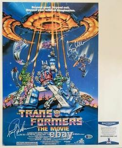 Frank Welker & Peter Cullen Dual Signed Transformers 12x18 Movie Poster BAS COA