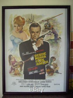 From Russia With Love Original 007 Cinema Movie Film Poster 1974 James Bond Rare