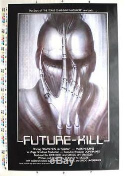Future-Kill, (1985) Artist's/Printers Proof, 1 sht. Signed HR Giger, NM Rolled