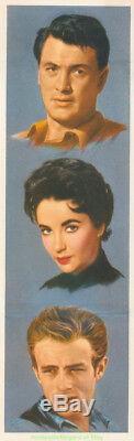 GIANT MOVIE POSTER 27x41 Linen Backed JAMES DEAN ELIZABETH TAYLOR 1956