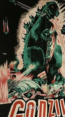 GODZILLA 1954 INOSHIRO HONDA Rare FRENCH LITHO 24x33 LOW PRICE