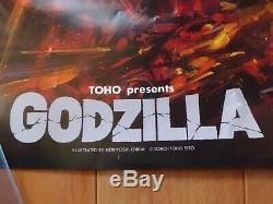 GODZILLA 1985 Noriyoshi Ohrai original MOVIE POSTER JAPAN B1 size