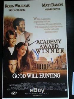 GOOD WILL HUNTING 11x17 Mini Movie Poster AUTOGRAPHED by ROBIN WILLIAMS & CAST