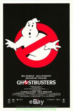 Ghostbusters Movie Poster Advance Style 1980s Original Video Store Poster N. Mint