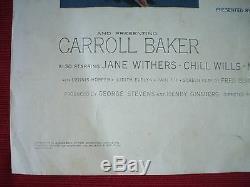 Giant 1956 Original Movie Poster Insert Elizabeth Taylor Rock Hudson James Dean