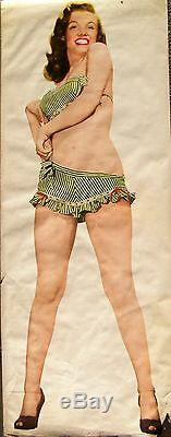 Giant Marilyn Monroe Pin Up Poster, 1953. RARE! Over 5 feet high