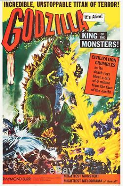 Godzilla (Trans World, 1956). One Sheet (26.75 X 41) Very Fine Original Poster