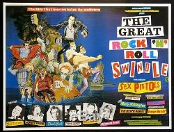 Great Rock N Roll Swindle Sex Pistols Punk Rock 1980 British Quad Movie Poster