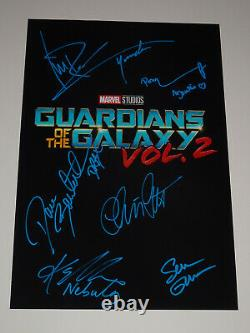 Guardians Of The Galaxy Vol 2 Cast Signed X6 Autographed 12x18 Photo Poster