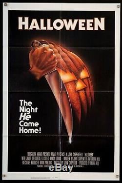 HALLOWEEN 1978 original U. S 1 Sheet movie poster John Carpenter Film/Art Gallery