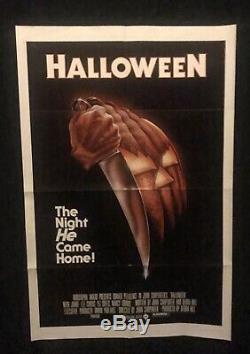 HALLOWEEN Original 1978 One Sheet Movie Poster JOHN CARPENTER Jamie Lee Curtis