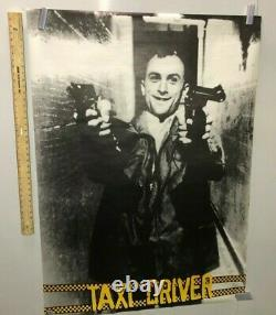 HUGE SUBWAY POSTER Taxi Driver Movie Promo Vintage 1976 Robert Deniro Very RARE