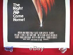 Halloween 1978 Original Movie Poster 1sh Linen Backed Rolled Never Fold Beauty