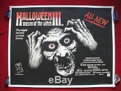 Halloween 3 III 1982 Original Movie Poster Season Of The Witch U. K. British Quad