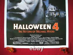 Halloween 4 1988 Original Movie Poster 1sh Michael Myers Mask Danielle Harris
