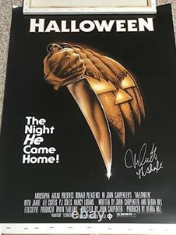 Halloween Michael Myers Nick Castle Signed Autographed Poster With Exact Proof