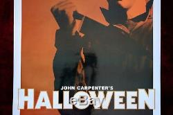 Halloween Original Movie Poster Michael Myers Mask Horror 2012 Re-release D/s