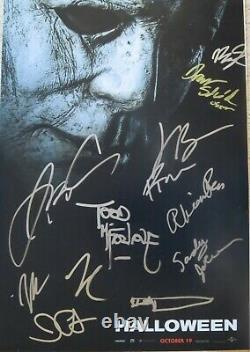 Halloween Photo Poster Autographed By 11 John Carpenter + 10 Beckett