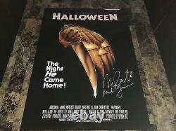 Halloween Rare Signed 1978 Horror Movie Poster Michael Myers Nick Castle Photo