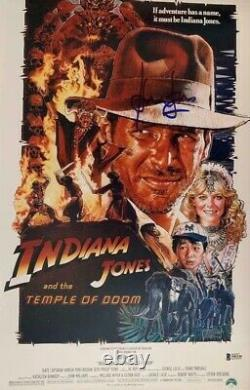 Harrison Ford Signed Star Wars Indiana Jones 12x18 Photo Poster Beckett BAS 6