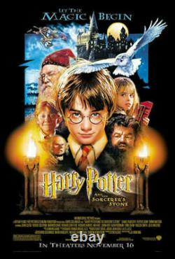 Harry Potter And The Sorcerers Stone Original Double Sided Movie Poster 27x40 Ds