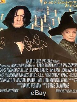 Harry Potter Original Cinema Quad Poster Hand Signed By the Cast 2001